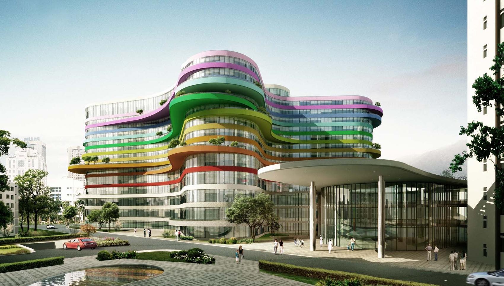 Kinderkrankenhaus Shenzen. Entwurfsstudie.