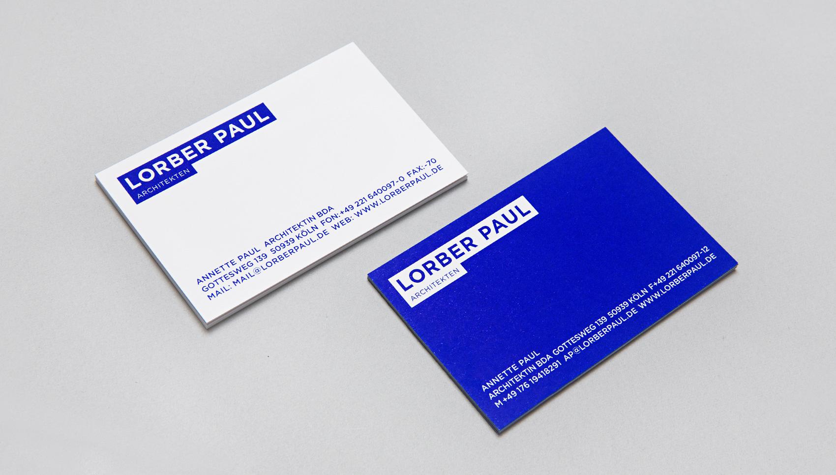 Lorber Paul Architekten. Corporate Design.