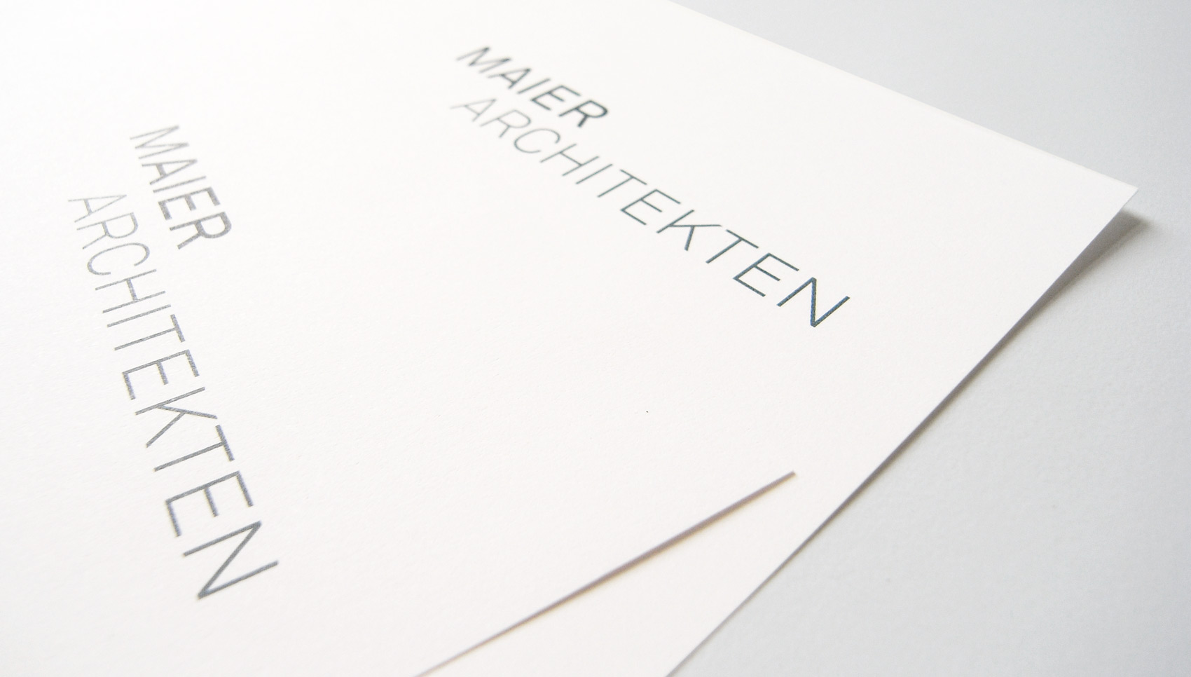 Maier Architekten Corporate Design