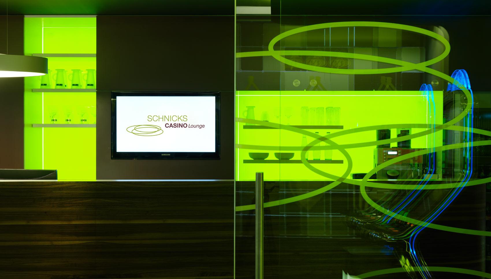 Schnicks Casino Geschäftsausstattung Fahrzeugbeschriftung Inneneinrichtung