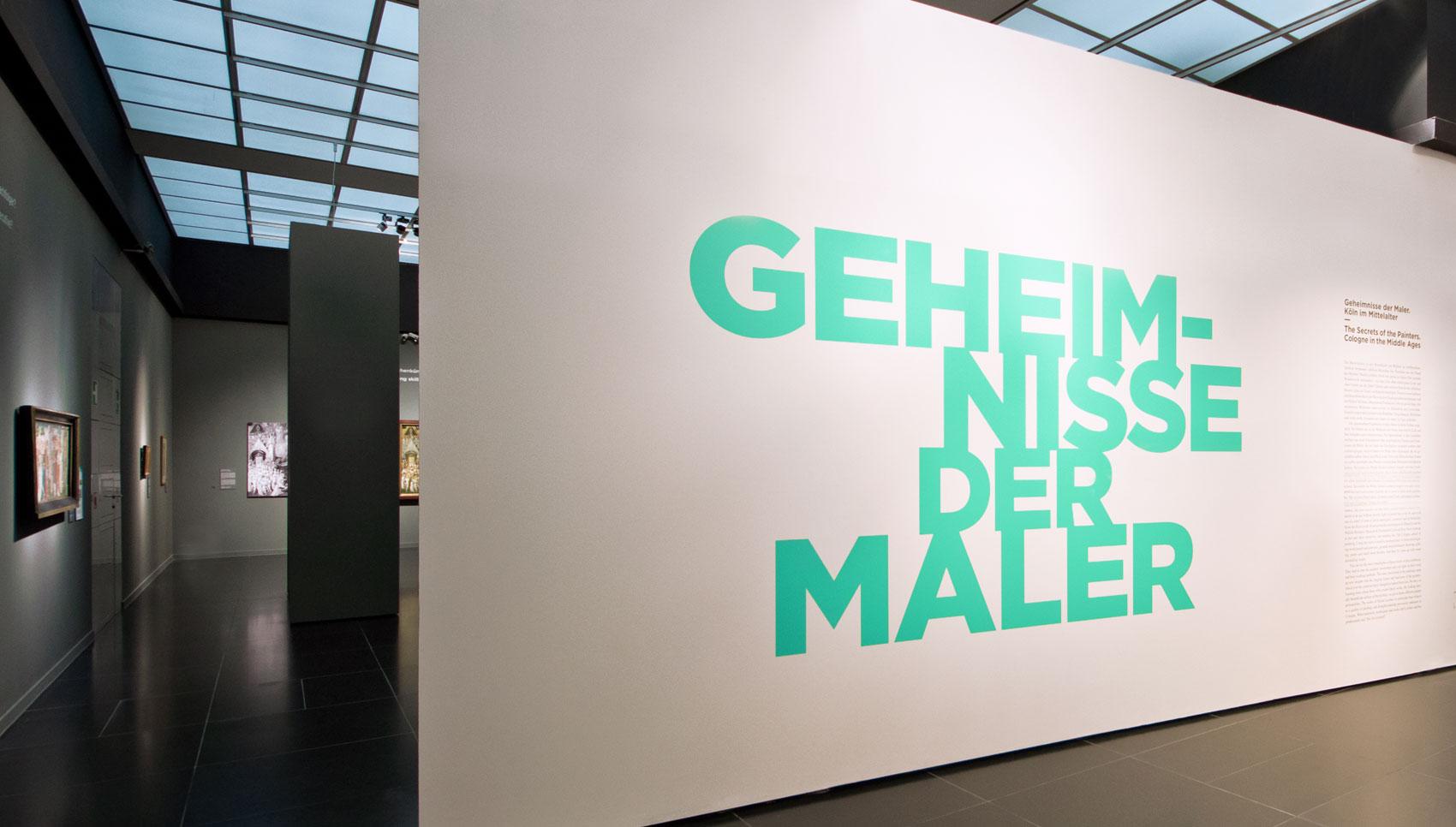 Geheimnisse der Maler – Köln im Mittelalter. Ausstellungsgestaltung und Katalogdesign