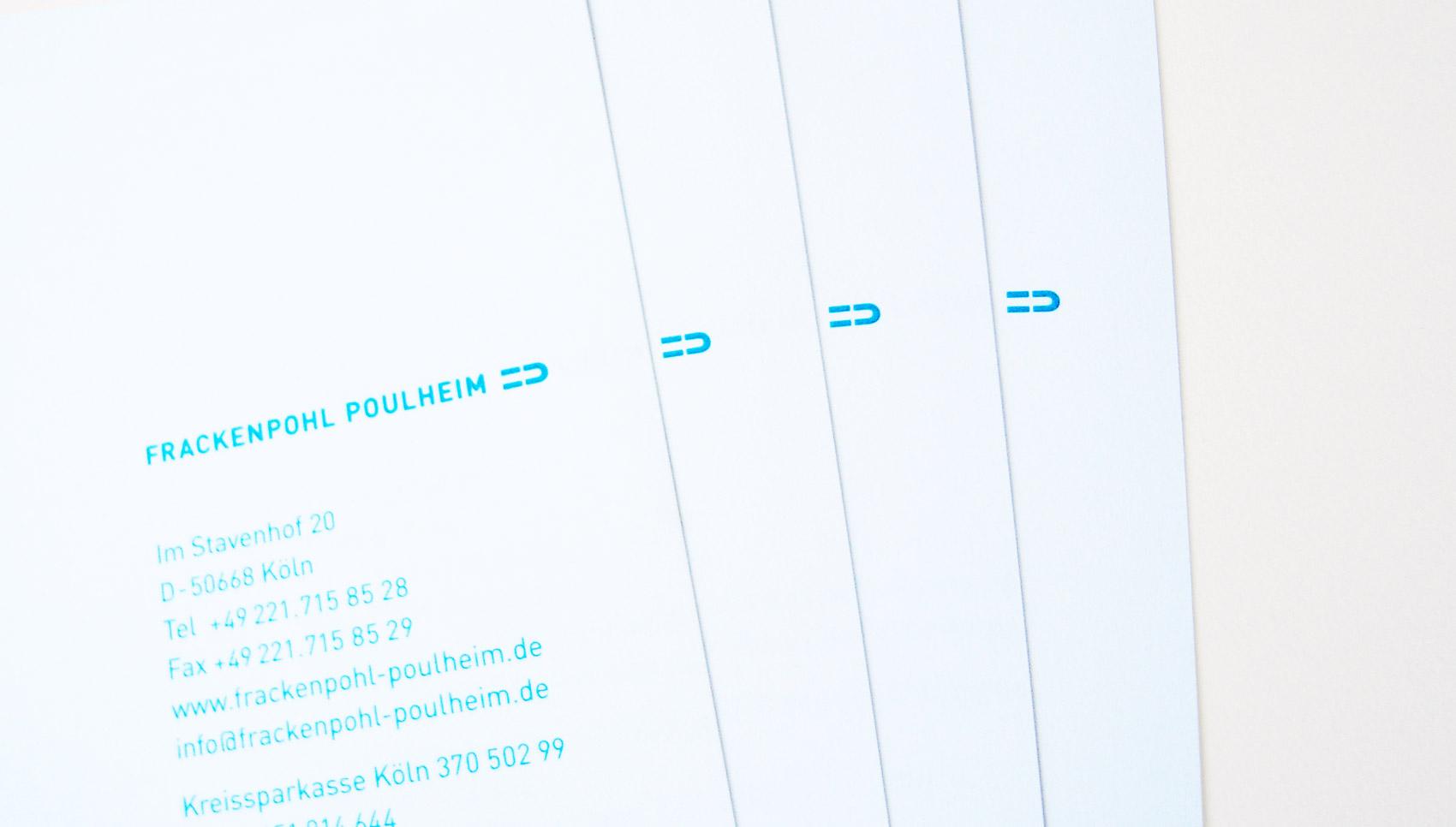 Frackenpohl Poulheim Corporate Design