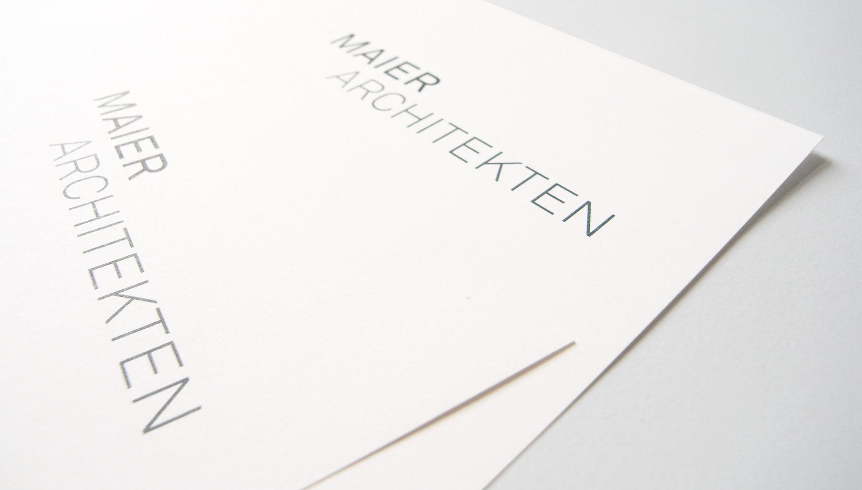 Maier Architekten Corporate Design
