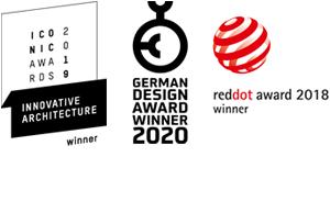 Red Dot Award, Iconic Architecture Winner, German Design Award Winner